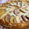 Пирог с персиками и маскарпоне