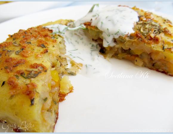 Картофельные зразы с капустой, запеченные в духовке. Готовим с HOMEQUEEN