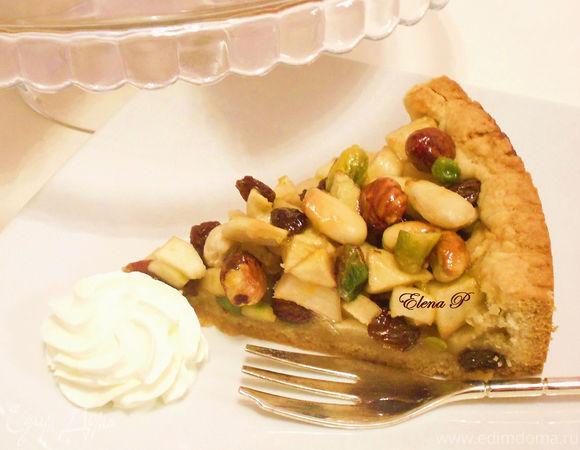 """Пирог изобилия"" или яблочно-ореховый флай.(Готовим с ""HomeQueen Corporation "")"