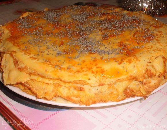 Простой блинный торт