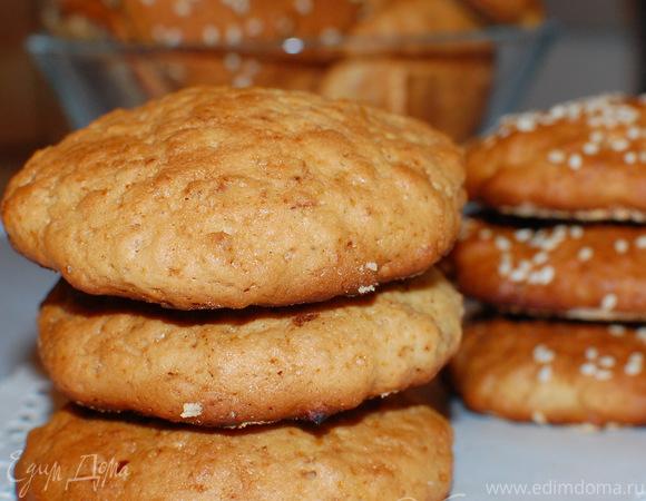 Печенье из овсяных хлопьев и меда