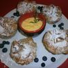 Мешочки с яблоками и миндальной пастой с розмариновым кремом