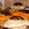 Мини-патиссончик с начинкой из индейки и гречки