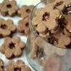 Вкуснейшее шоколадное песочное печенье с малиновым конфитюром