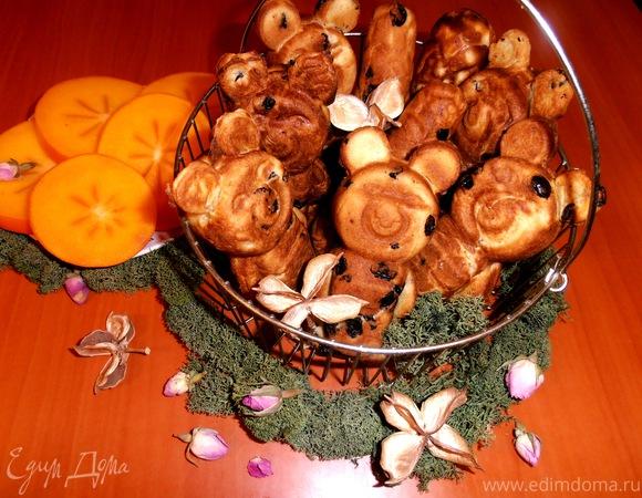 пошаговый рецепт печенья олимпийских мишек