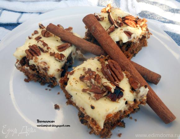 Морковный пирог с фростингом из сливочного сыра