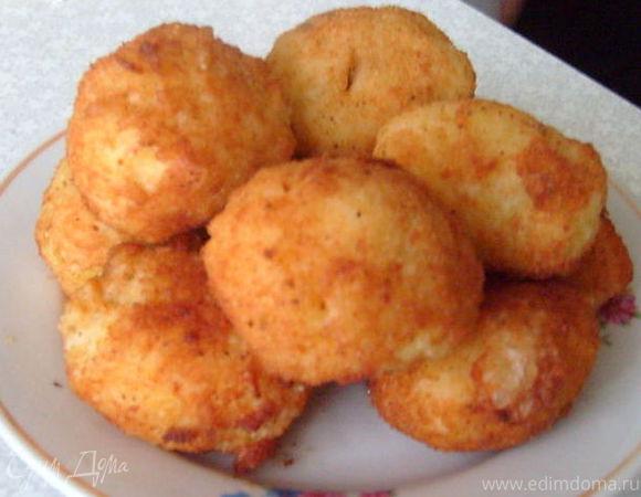 Сицилийские аранчини - рисовые шарики с фаршем