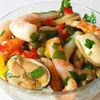 Салат из морепродуктов по-средиземноморски