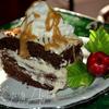 Шоколадно-карамельный брауни