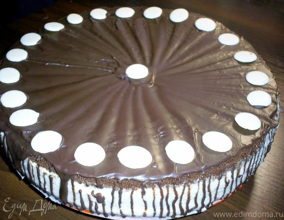 Шоколадно-кофейный торт со сливочным кремом панна котта