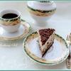Десерт с халвой, клюквой и сливками