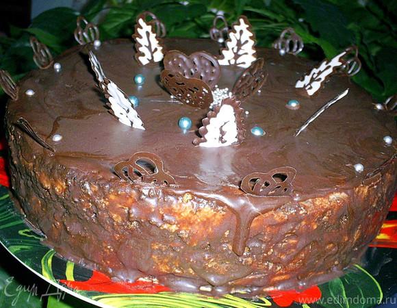 Нежнейший маковый торт с заварным сливочным кремом