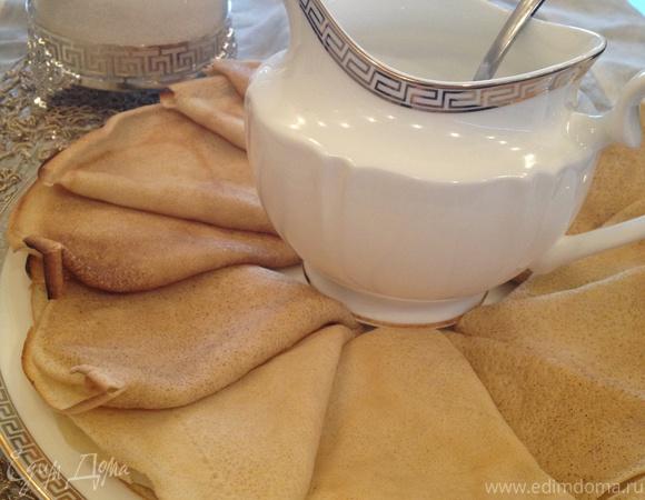 Вкусные тонкие блины без молока