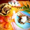 Оладушки с карамельно-фруктовым припеком