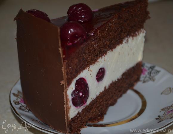 """Вишневый торт-суфле """"Лиза, с днем рождения!"""""""
