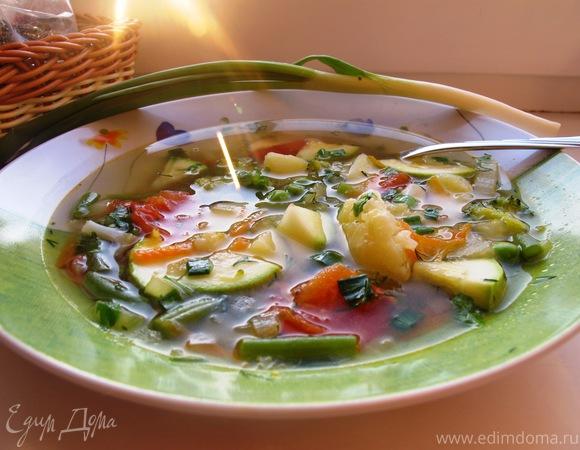 рецепт безкалорийного овощного супа