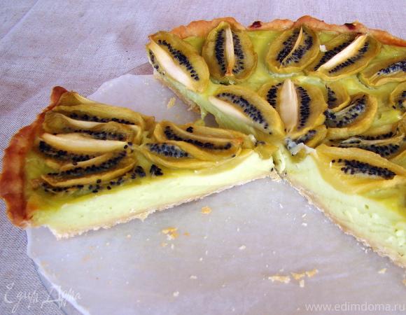 Кремовый тарт с Киви (Kiwi Custard Tart)