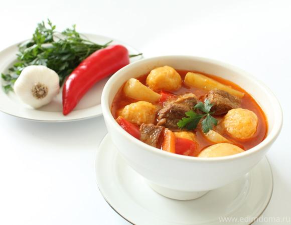 Суп-гуляш с сырными клецками для ТатьянаS