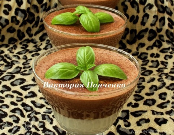 Шоколадный десерт с базиликом для Наташи Biondina