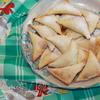 Треугольнички с сыром и грушей