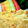 Шаньга с картошкой, сыром и жареным луком