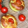 Закусочные маффины с рикоттой, цукини и помидорками черри