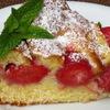 Сливочный пирог с клубникой