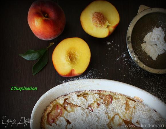 Клафути с персиками и миндалем (для Liza Pirogova)
