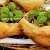 Мини-тарты с баклажанами и перцами