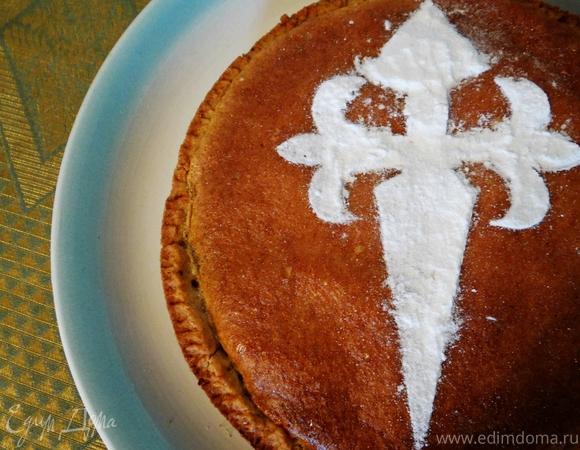 Сантьяго - галисийский средневековый пирог с миндалем (Tarta de Santiago)