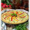 Открытый деревенский пирог с сыром Джюгас