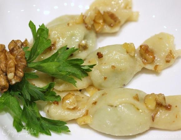 Карамелли с рикоттой, шпинатом и пармезаном