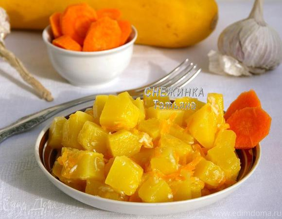 Хрустящие кабачки с чесноком и морковью