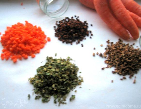 Заготовка сухих овощей и трав