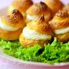 Закусочные профитроли со сливочно-лососевым крем-муссом
