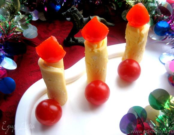 Сырные свечки-рулетики