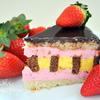 Шоколадно-цитрусовый торт с клубничным муссом