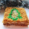 Песочный новогодний торт