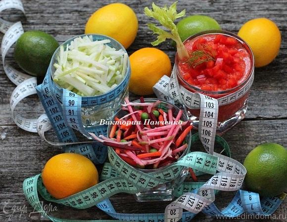 5 салатов из свежих овощей