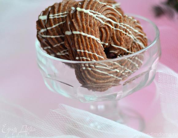 """Печенье с кремом """"Шоколадный поцелуй"""" (Csoki csók teasütemény)"""