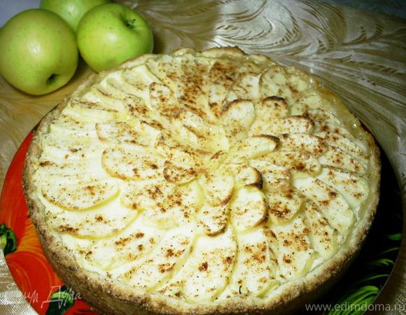 """Творожно-яблочный пирог """"Мамина яблонька"""""""