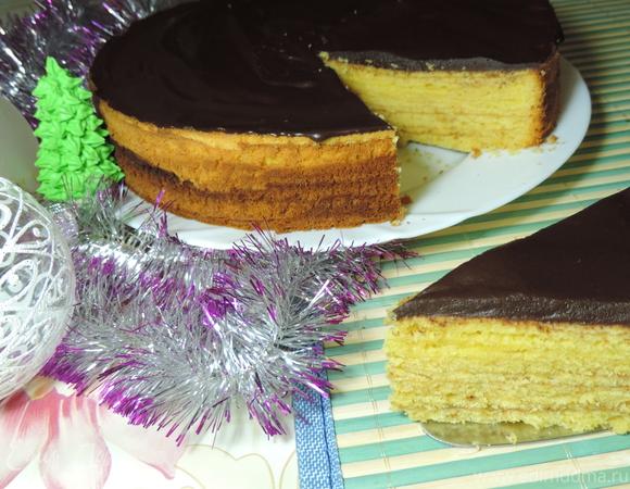 Традиционный немецкий рождественский торт-пирог Баумкухенторте (Baumkuchentorte)
