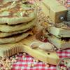 Лепешки с горохово-чесночной начинкой