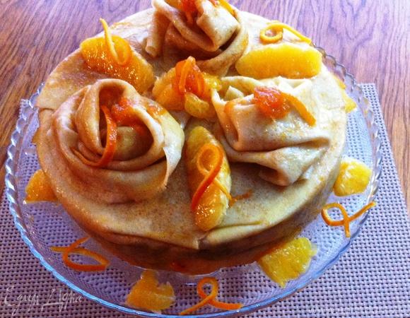 """Блинный торт """"Апельсиновая фантазия"""""""