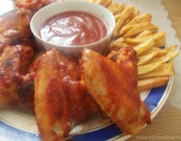 """Куриные крылышки в томатно-соевом соусе """"Иногда можно"""""""