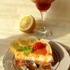 Закусочный чизкейк с джемом из помидоров черри