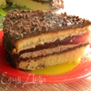 Бисквитный торт с апельсиново-вишневым желе
