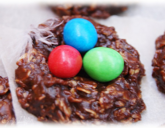"""Пасхальное печенье """"Шоколадное гнездо"""""""