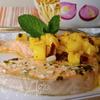 Лосось с ананасовой сальсой