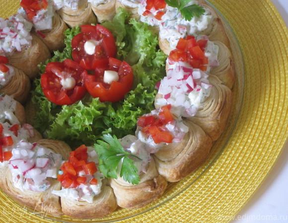 Венок с овощами